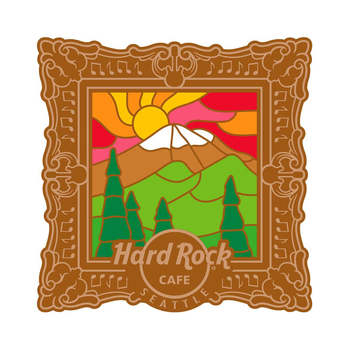 Seattle 3D Mount Rainer Stained Glass Pin