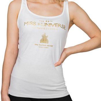 MISS UNIVERSE Guitar Hotel Gold Foil Tank