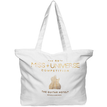 MISS UNIVERSE Guitar Hotel Gold Foil Tote