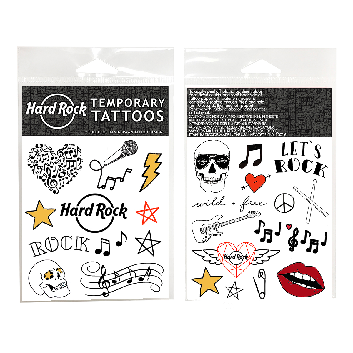 Temporary Tattoos Sheet Set