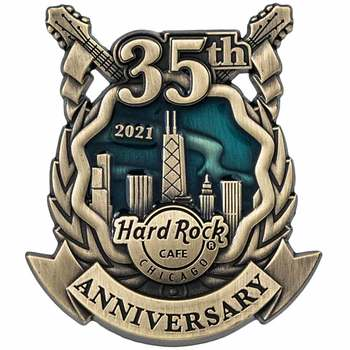 Chicago 35th Anniversary Online 3D Pin