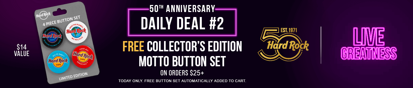 Hard Rock Free Collector Edition Button Set