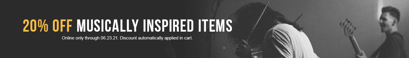 Hard Rock 20% Off Musically Inspired