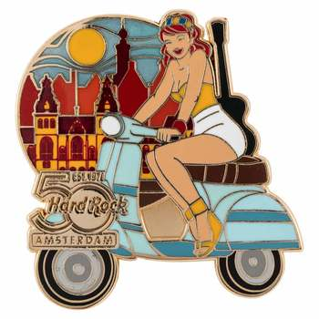 50th Anniversary Scooter Girl Pin Series