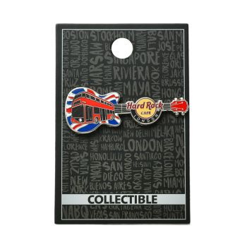 London Guitar Red Bus Pin