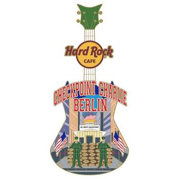 Checkpoint Charlie Country Colors City Art Pin