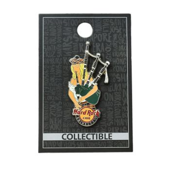 Edinburgh Bagpipe Girl Pin