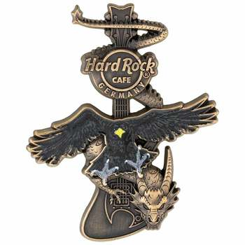 Germany 3D Dragon and Eagle Guitar Pin
