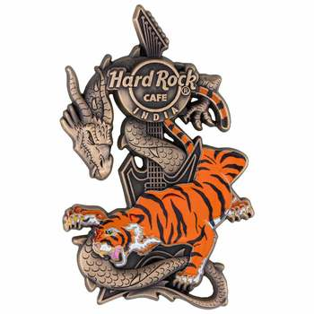 India 3D Dragon and Tiger Prototype Pin