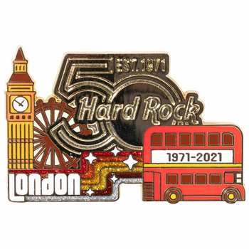 50th Anniversary Prototype Red Bus Puzzle Pin