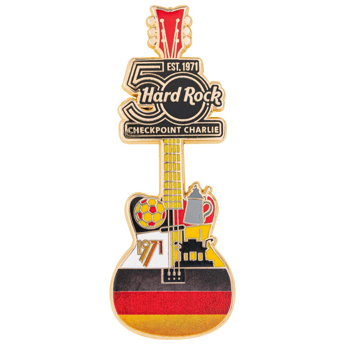 50th Anniversary Checkpoint Charlie City Icon Guitar Pin