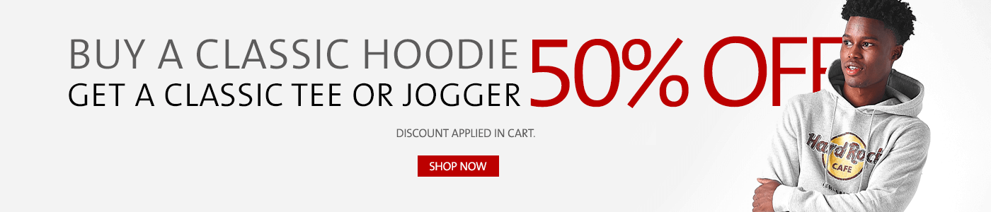 Buy a Classic Hoodie Get 50% Off Classic Tee or Jogger