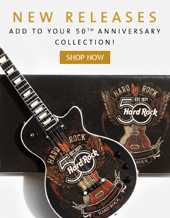 Hard Rock 50th Anniversary Collectibles