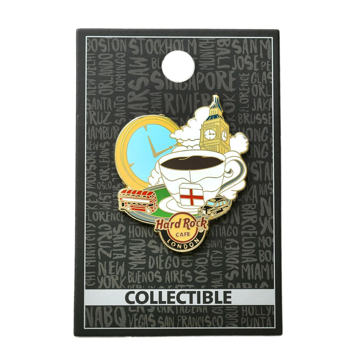 London Tea Time Pin