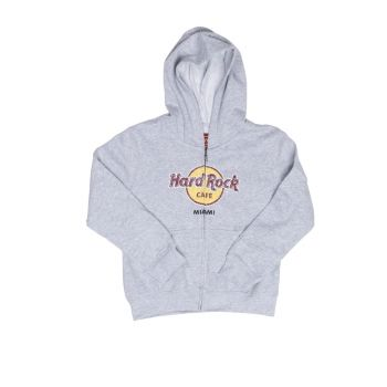 Kids Zip-up Distressed Logo Hoodie