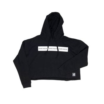 Women's Acitve Logo Cropped Fleece Hoodie
