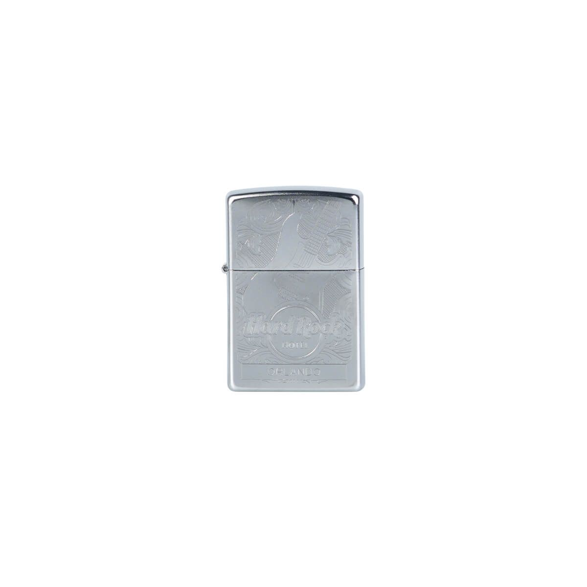 Hotel Zippo Silver Etched Guitar Lighter