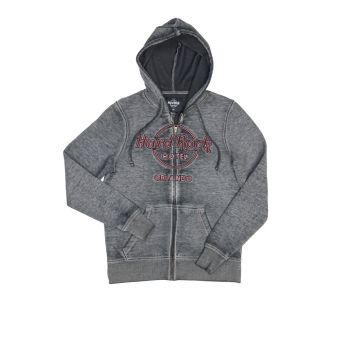 Men's Double Burnout Zip Hoodie