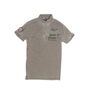 Men's Guitar Company Military Polo