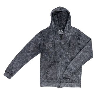 Men's Acid Wash Full Zip Hoodie
